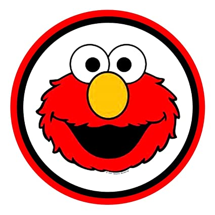 24 Elmo Faces Cake Toppers 4cm On Wafer Rice Paper