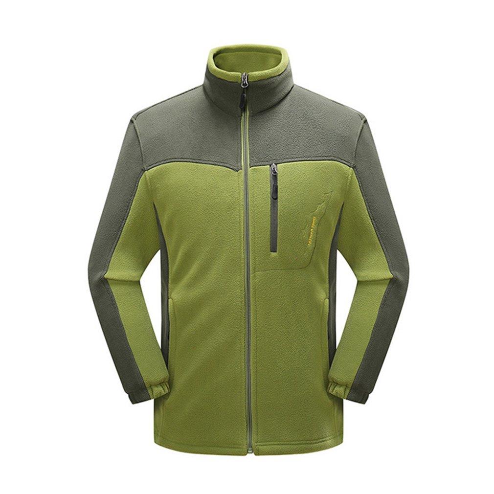 LnLyin Herren Jacke Herbst und Winter Outdoor Tragen Fleece Hosen Herren Jacke Mantel Große Yards Dicke Warme Fleece Jacke Blau M