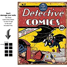 Shop72 Tin Sign DC Comic Series Metal Tin Sign Retro Vintage - With Sticky Stripes . No Damage to Walls
