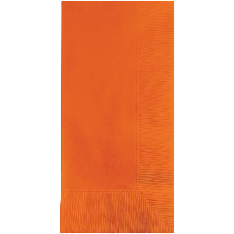 クラブパックの2層600 Sunkissedオレンジプレミアム使い捨てDinner Napkins 8