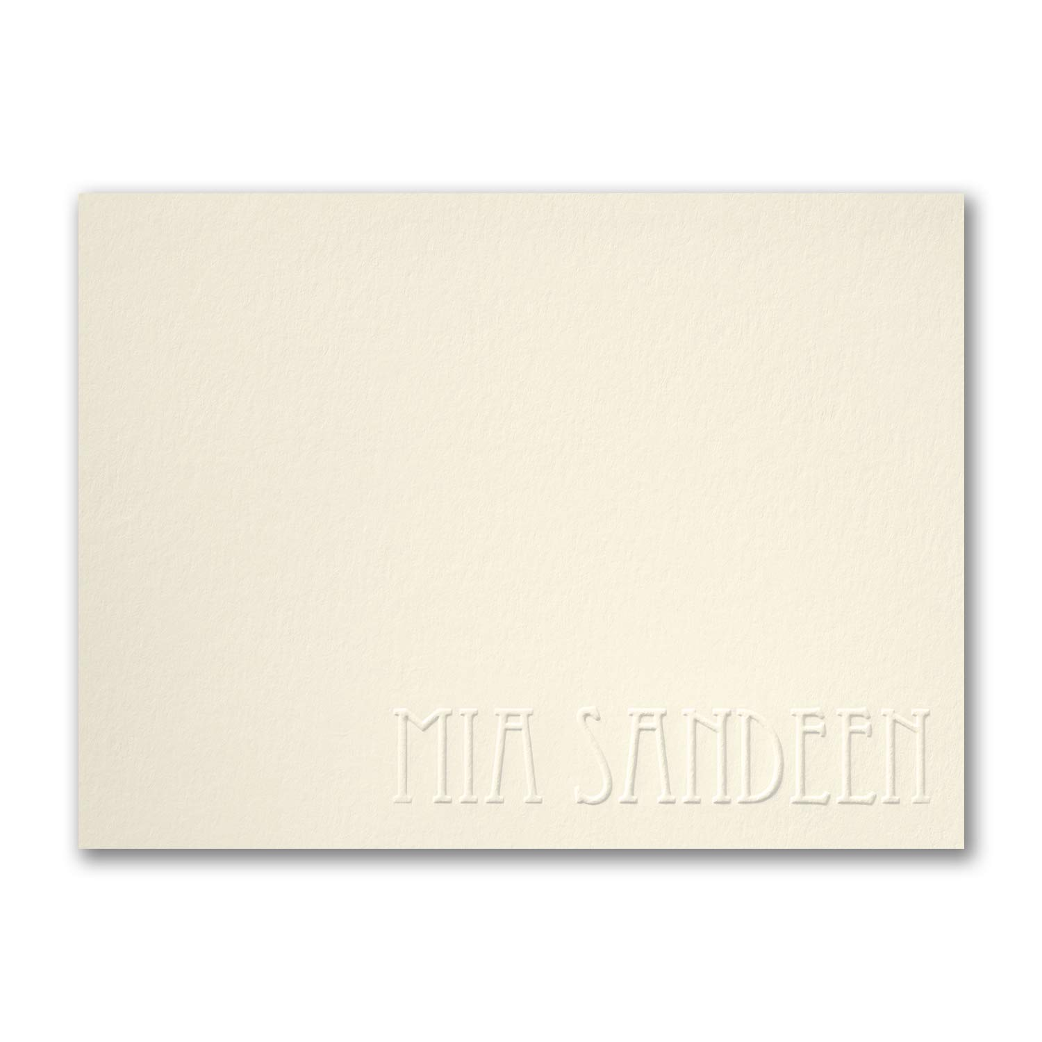 525pk Simply Perfect - Large Note Card - Embossed - Ecru-Shop All Stationery