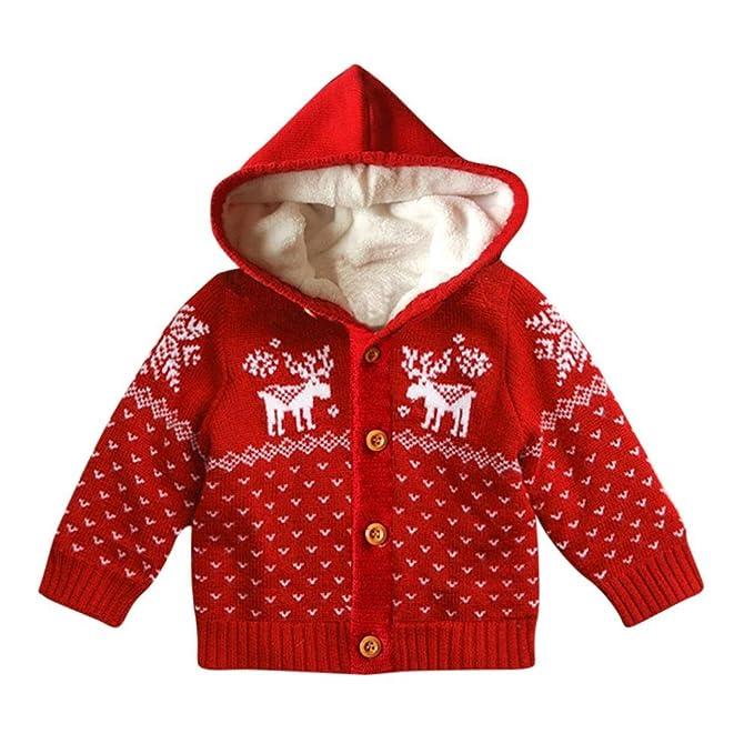 Abrigo acolchado para bebé con capucha, Yannerr niños Chico pequeño botón de algodón Chaqueta de