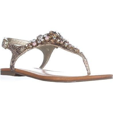 1e8e117d70a3 G by GUESS Womens Londean2 Split Toe Casual Slingback Sandals
