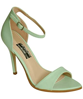 063c6d86cdce Pilot Maya Barely There Strappy High Heel Sandals Mint Green