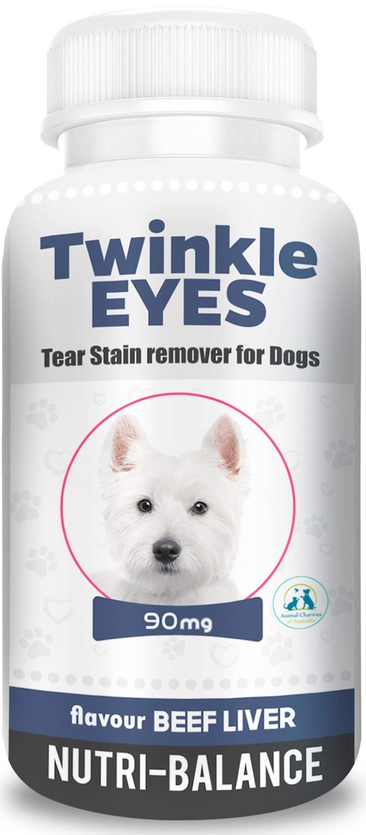 Twinkle Eyes Tear Stain Remover for Dogs - Beef Liver 90g