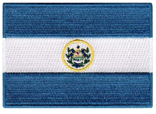 El Salvador Flag Embroidered Patch Salvadorian Iron-On National Emblem