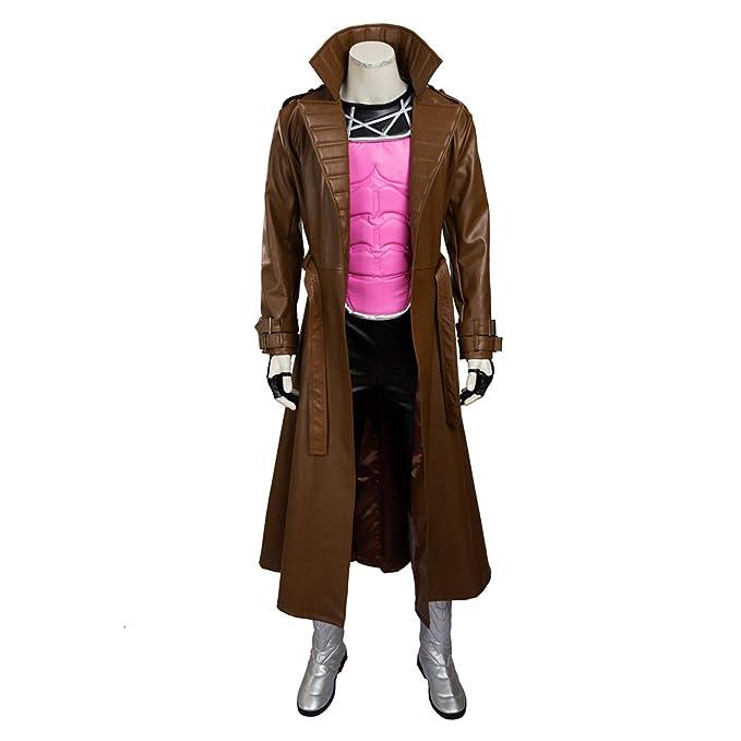 QWEASZER Marvel X-Men Gambit Cosplay Disfraz Superhéroe ...