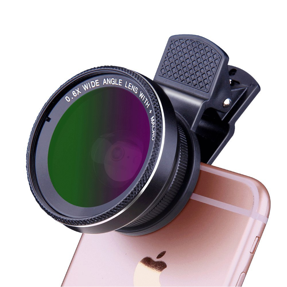 3 in 1 HD Phone Camera Lens Kit - COOLEAD Professional 198°Fisheye Lens + 0.6X Super Wide Angle Lens + 15X Macro lens,Universal Clip-On Cell Phone Lens for iPhone,Samsung,Most Smart Phone/IPad