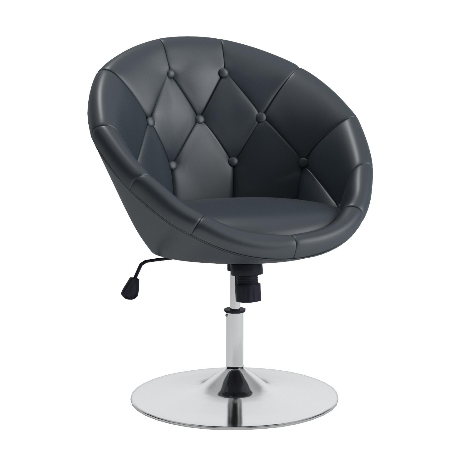 Amazon Coaster Round Back Swivel Chair Black Kitchen