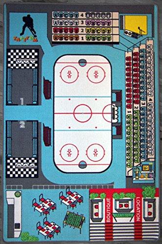 Hockey sur Glace 130 x 200 cm TAPITOM Tapis Enfant patinoire