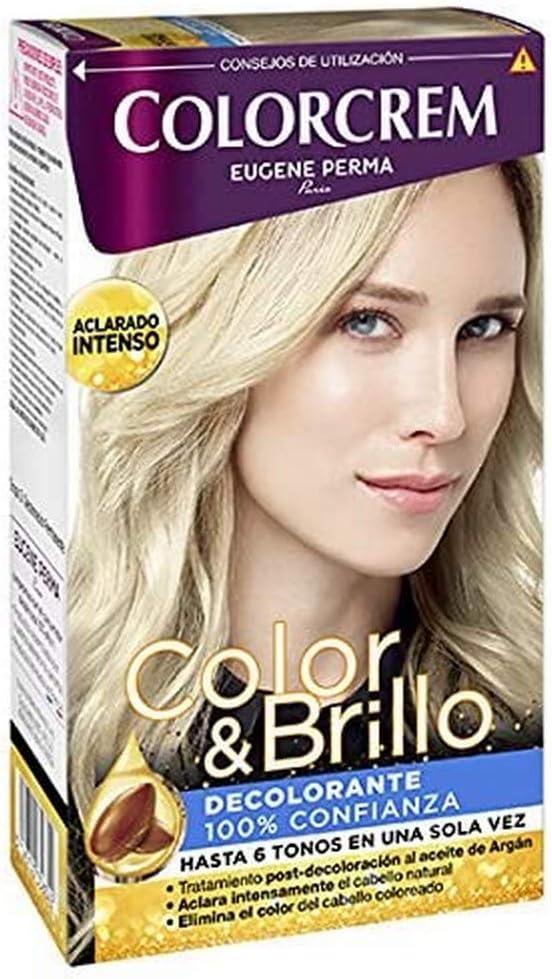 Colorcrem Color & Brillo Decolarante - Aclara Hasta 6 Tonos en Una Sola Vez - con Tratamiento Post-Decoloración al Aceite de Argán, Elimina el Color ...