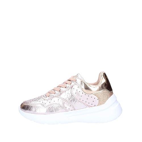 1be2e746bd Guess Scarpe Sneakers Casual Donna Pelle Laminata Rosa con stellette ...