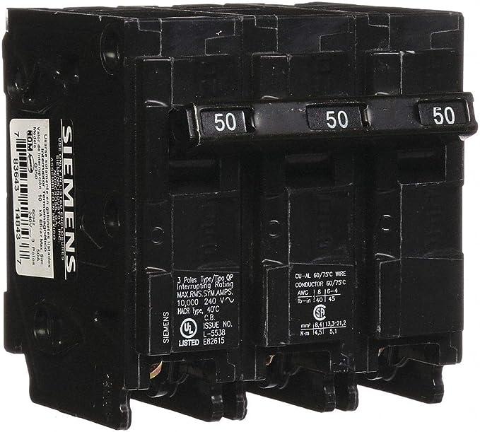 SIEMENS Q350 50 AMP 240 VOLT 3 POLE BREAKER..158 PRICE FOR ONE