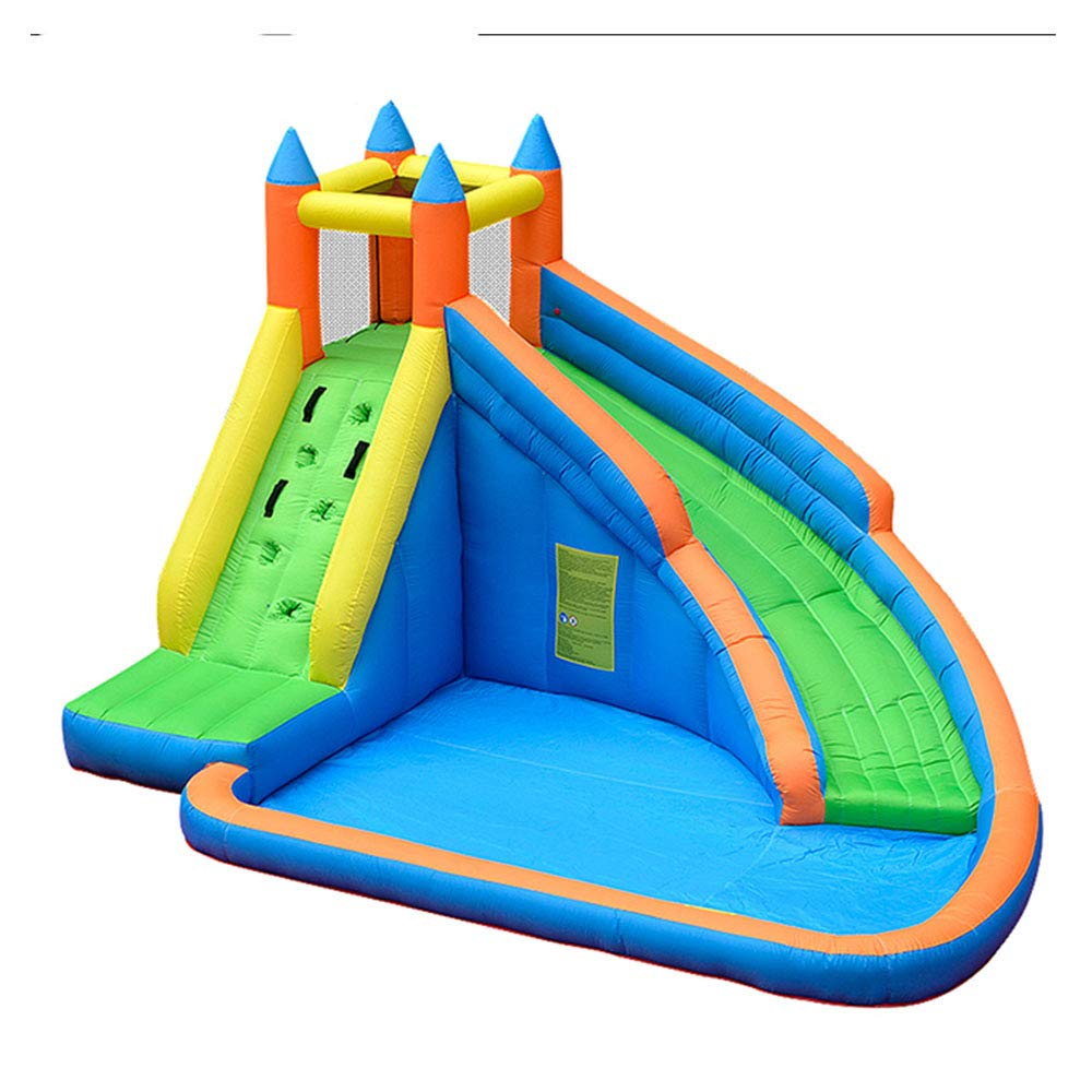 Doctor Dolphin Inflatable Bouncy Castle Water Park Bounce House with Slide for Kids