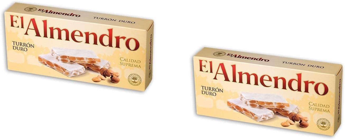 El Almendro - Pack 2 Turrón duro crujiente de Almendra - Calidad Suprema - 200gr (Sin Gluten): Amazon.es: Alimentación y bebidas