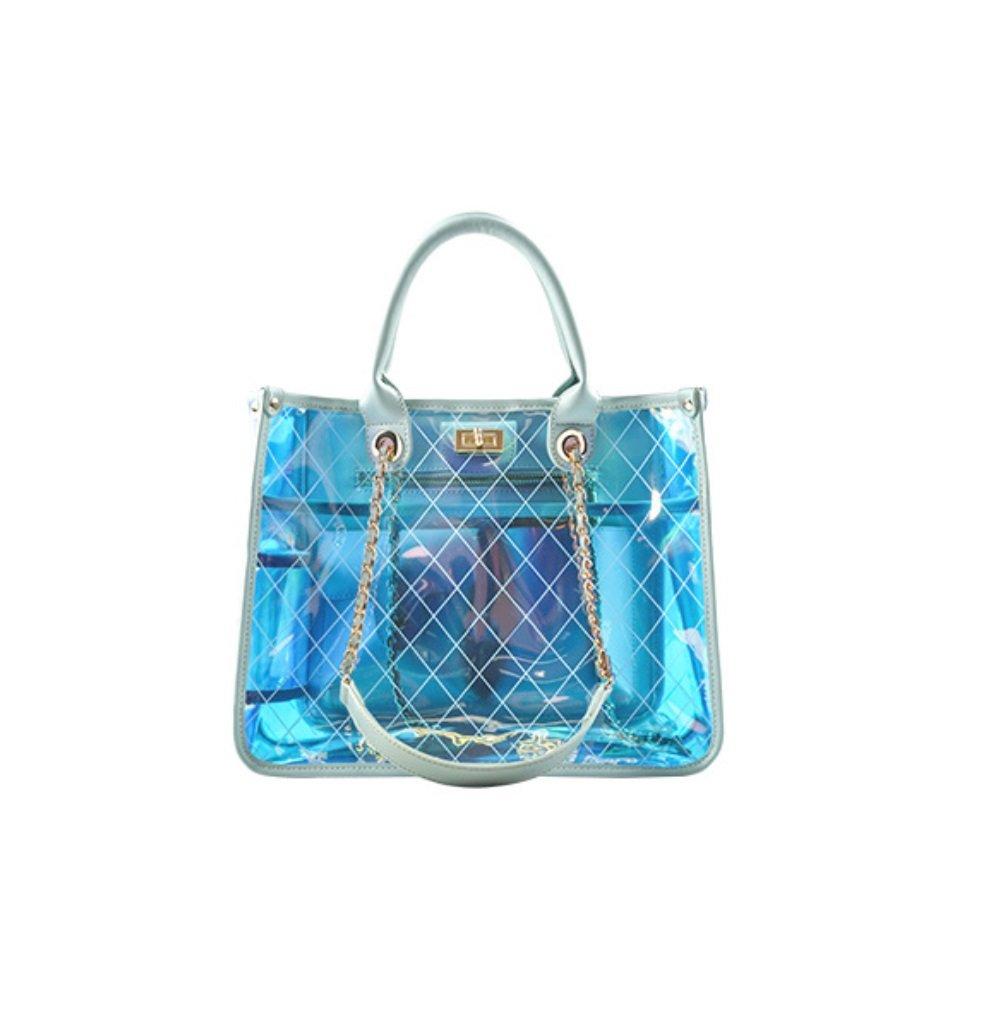 SHISHANG Damen-Handtasche 2018 New Beach PU Transparente Geleebeutel Messenger Bag ZYXCC