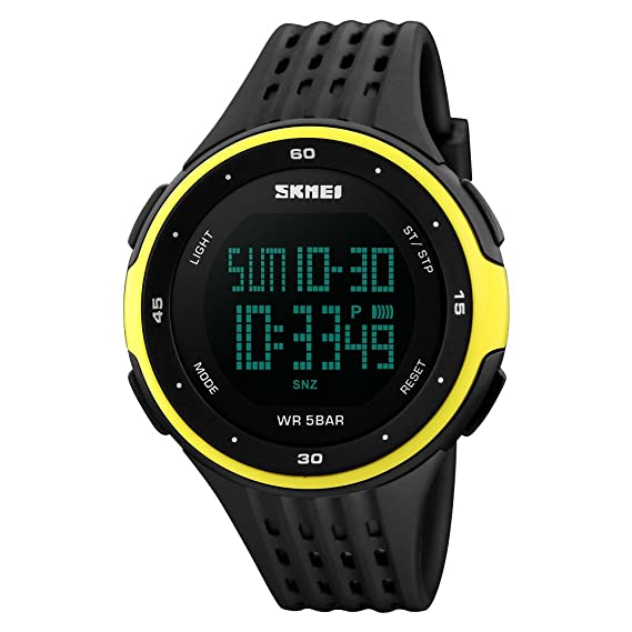 TONSHEN Unisex Deportivos Relojes Digitales LED Electrónica 50M Resistente Agua Outdoor Sport Militares Táctica Plástico Bisel