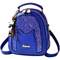 Dumcuw Backpack for Women, Mini Leather Starry Fashion Rucksack with Headphone Jack,Large Capacity Leisure Waterproof Daypacks Shoulder Tote Bag Clutch Purse, for Shopping, Travel, Gift