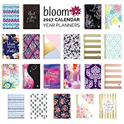 Bloom Daily Planners 2017 Calendar Year Daily Planner - Passion/Goal Organizer - Monthly Weekly Agenda Datebook Diary - January 2017 - December 2017 - 6\
