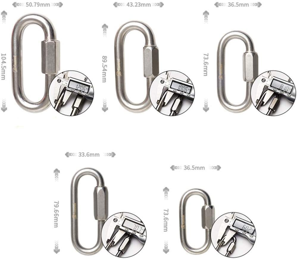 Carabiner Clip Stainless Steel Plum Locks Ultra Sturdy Locking Carabiner Clips Aluminium Gravid Duty Safety Buckle Quick Connect Ring Independent Lock Rock Climbing f QLBF Stainless Steel Loaded Hook