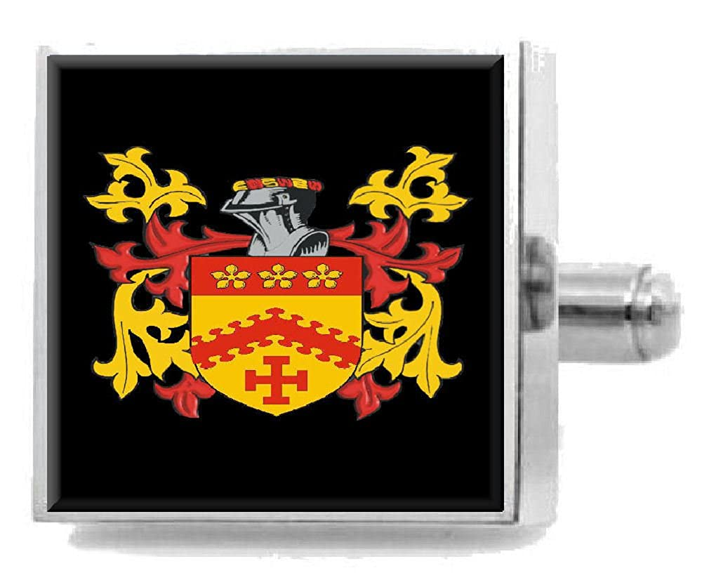 Select Gifts Vigors Ireland Heraldry Crest Sterling Silver Cufflinks Engraved Message Box