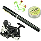 38 inches Pocket Pen Rod Set,Mini Fishing Rod and Reel Combos,Portable Travel Fishing Gear in A Box,Good Gift for Birthday,Festival,Christmas