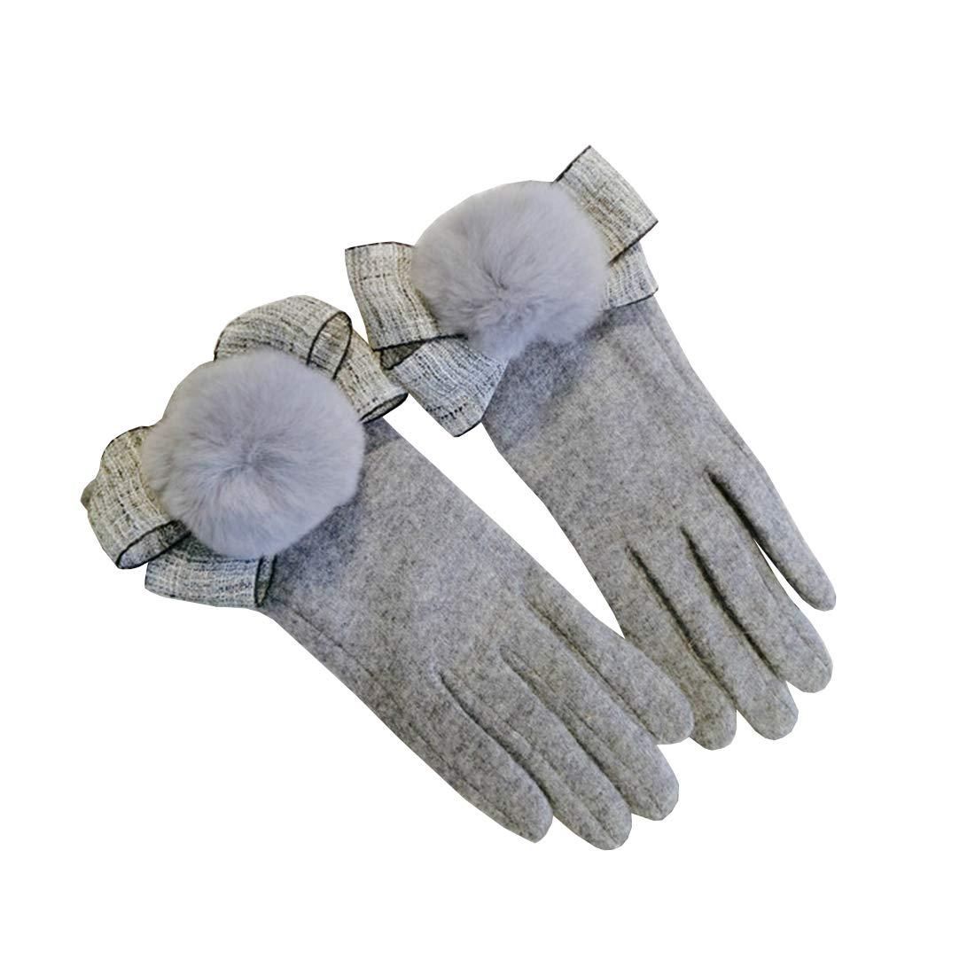MAGAI Frauen-warme Handschuhe beugen Hairball-Dekoration reizendes im Freien, Das Herbst Winter reitet B07JZ4KR93 Handwrmer Jeder beschriebene Artikel ist verfügbar