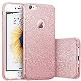 iPhone 6s Case, Imikoko™ Fashion Luxury Protective Hybrid Beauty Crystal Rhinestone Sparkle Glitter Hard Diamond Case Cover For iPhone 6s/6 (3-Layer)