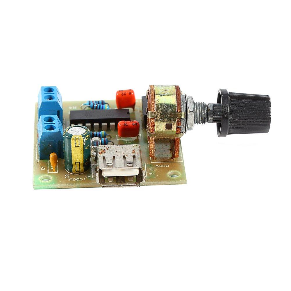 Hilitand M/ódulo de Placa de Amplificador de Audio USB PM2038 M/ódulo de Fuente de alimentaci/ón de Audio Receptor de Audio 5W DC 2V-6V