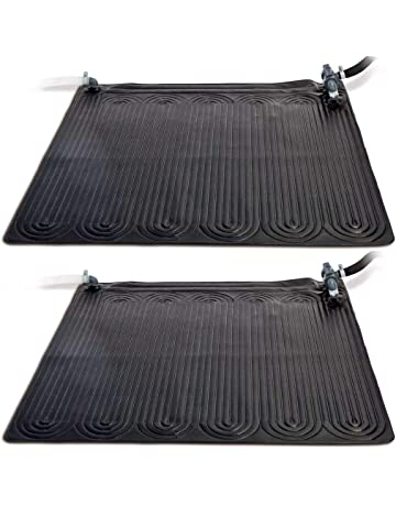 Festnight Esterilla Calentador Solar de Piscina PVC,1,2x1,2m,Negra,
