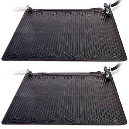 Festnight 2 uds Esterilla Calentador Solar de Piscina PVC,1,2x1,2m,