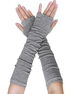 25e3508b4cb8 sourcingmap Les femmes Longueur du coude du bras extensible Thumbhole Paire  Gants chauds