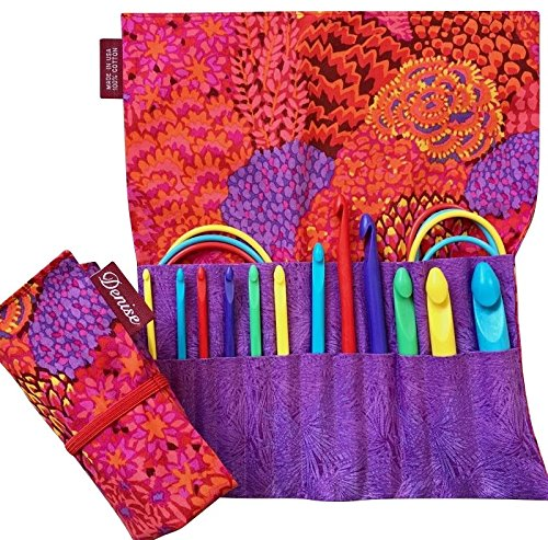 Denise2Go Interchangeable Crochet Hook Set, Complete (Red Flowers) by Denise Interchangeable Knitting & Crochet (Image #1)