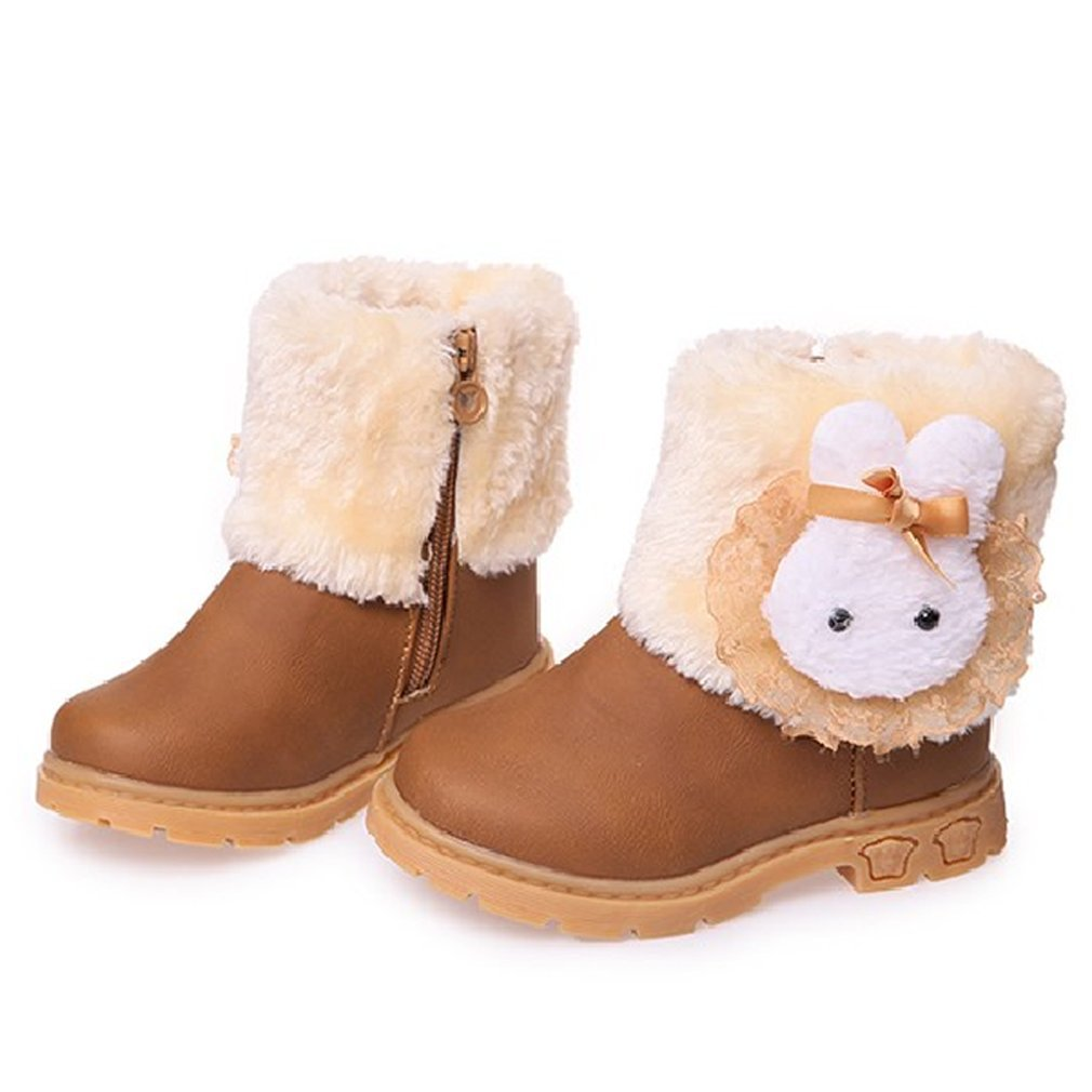 Meolin Girls Warm Winter Flat Shoes Snow Boots ,yellow,9 by Meolin
