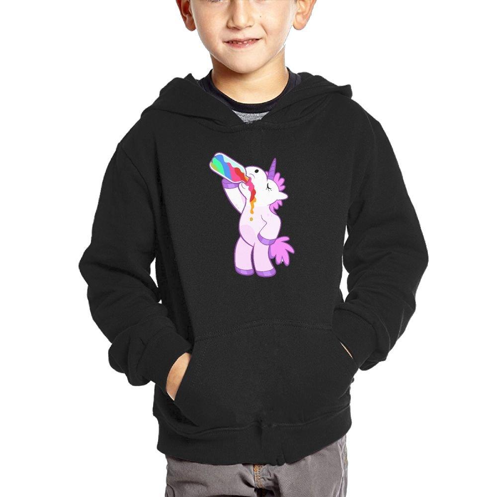 JasonMade Unicorn Drink Kids Fashion Popular Hooded Hoodies With Pocket