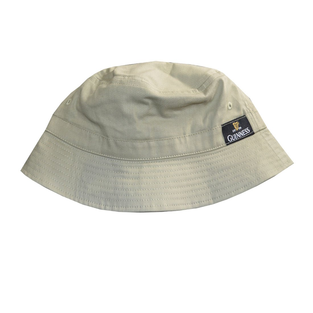 Khaki Green Guinness Fisherman's Hat With Gold Harp Logo