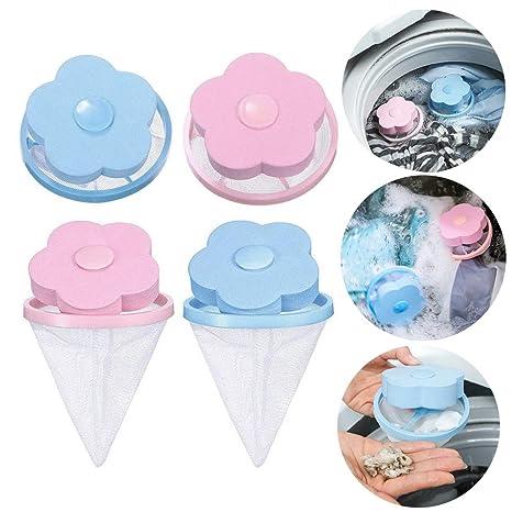 4 bolsas de malla reutilizables con forma de flor para lavadora ...