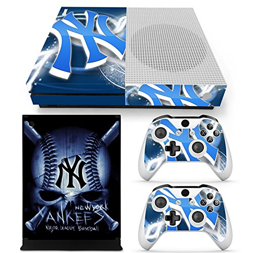GoldenDeal Xbox One S Console and Wireless Controller Skin Set - MLB - XboxOne S XOS Sticker Vinyl (Best Mlb Game For Xbox One)