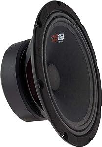 "DS18 PRO-GM10 Loudspeaker - 10"", Midrange, Black Steel Basket, 660W Max, 220W RMS, 8 Ohms - Premium Quality Audio Door Speakers for Car or Truck Stereo Sound System (1 Speaker)"
