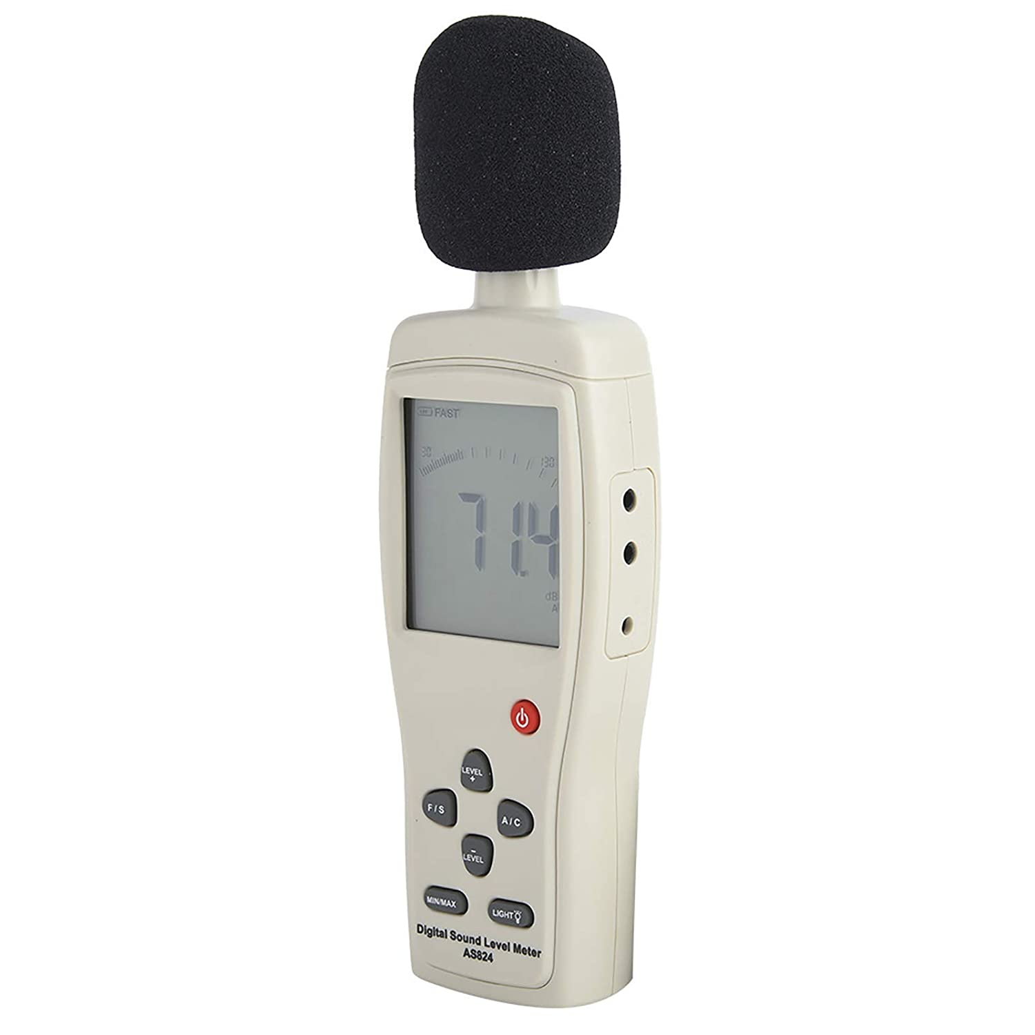 Measurement Portable Digital Tester Sound Level Meter Data Hold Function LCD Screen Detector for Industry and Daily Life with Range 30 to 130dBA 35 to 130dBC