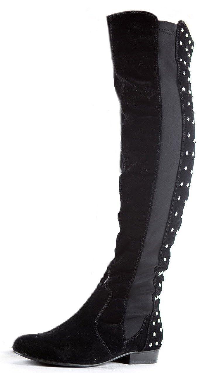ShoeFashionista Damen Winterstiefel Biker Stiefel Schuhe Flach Größe 36 41