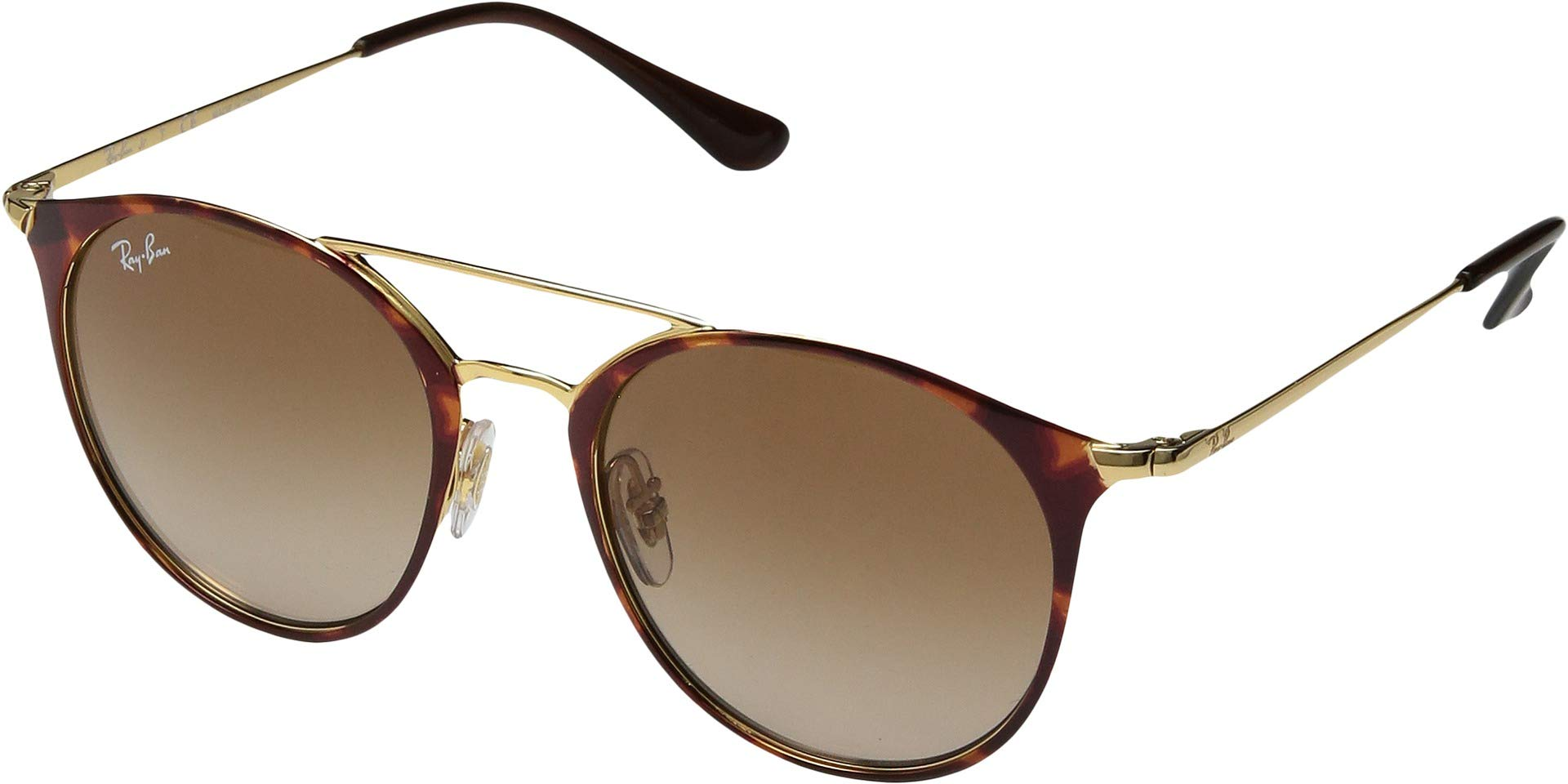 RAY-BAN JUNIOR Kids' RJ9545S Round Kids Sunglasses, Gold On Top Havana/Brown Gradient, 47 mm by RAY-BAN JUNIOR