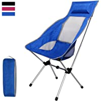 Folding Chair,iDeep Waterproof Ultralight Portable Folding Chair Backpacking Chairs with Pillow Lounger Chair High Back with Carry Bag (Hold up to 397 lbs) for Outdoor Picnic Fishing Camping