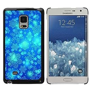 Paccase / SLIM PC / Aliminium Casa Carcasa Funda Case Cover - Winter Snowflake Blue Sky Chrismas - Samsung Galaxy Mega 5.8 9150 9152
