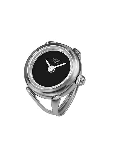 check-out ce784 dd080 Davis - Ring Watch 4185 - Anello Orologio Donna -Quadrante Nero-Regolabile