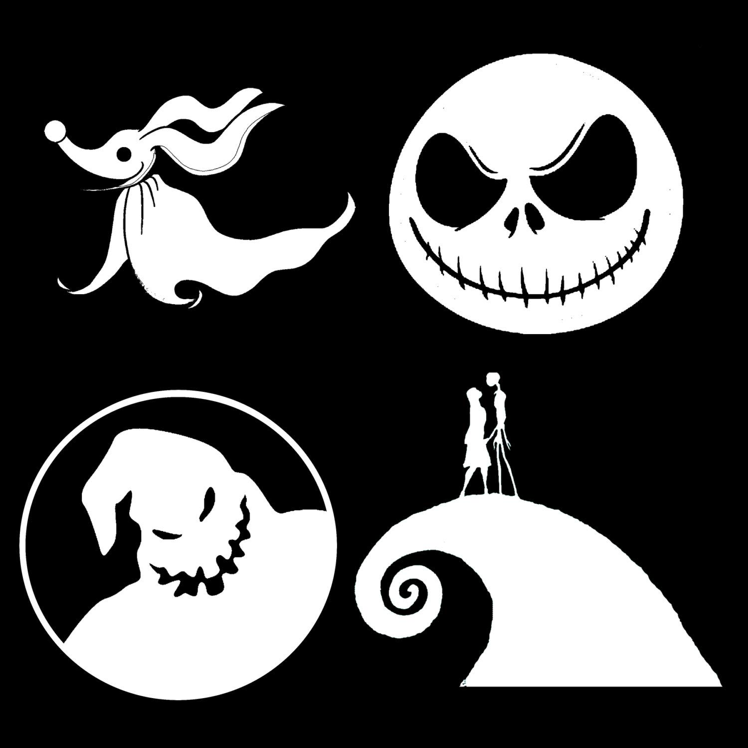 Amazon.com: Gustave Nightmare Before Christmas Vinyl Decals Set of 4 ...