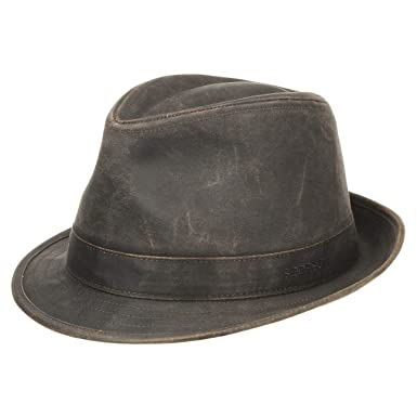Stetson Odessa Trilby Cloth Hat trend oilskin hats  Amazon.co.uk  Clothing 825e7a4c101