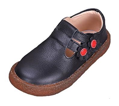 Cuero Mocasines para Niños Zapatos Oxford Suave Cuero de Little Kids Causal Zapatos para Chicos Chicas