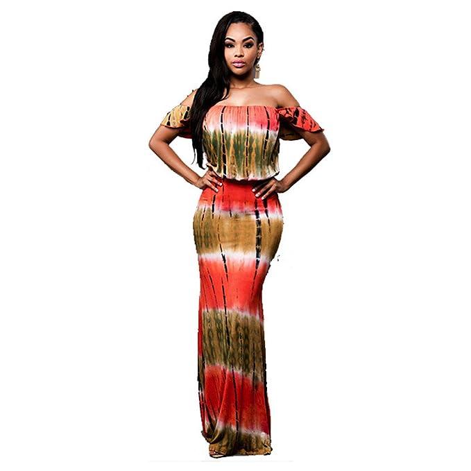 Haroty Elegant Largos Vestido Lapiz Estampado Flounced Ajustados Slim para Mujeres Verano Cocktail Rockabilly Fiesta: Amazon.es: Ropa y accesorios