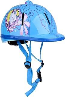 magideal Casque d'équitation pour enfant réglable Chevaux Sport Équipement de protection, Schnee Blau